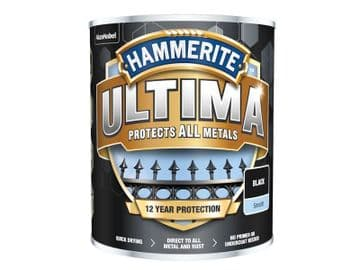 Ultima Metal Paint Smooth Black 750ml